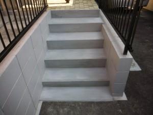 外階段小工事(洗面化粧台取り換え工事含む)