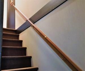 階段手すり取付け