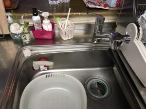 キッチン水栓交換(トイレ交換含む)