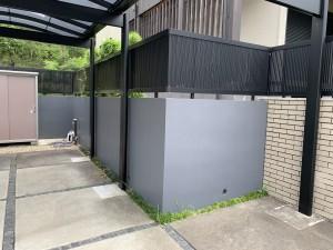 ブロック塀塗装工事(倉庫交換含む)