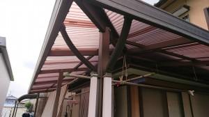 ポリカ屋根交換